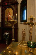 Donetsk. Cozy decor of St. Barbara chapel, Donetsk Region, Churches