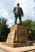 Donetsk. Monument to owner of Donbas, Donetsk Region, Monuments
