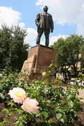 Donetsk. Granite boulders at monument to Artem, Donetsk Region, Monuments