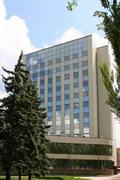Donetsk. Building of Prominvestbank, Donetsk Region, Civic Architecture