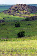 Kamiani Mohyly Reserve. Landscape, Donetsk Region, Geological sightseeing