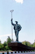 Mariupol. Metallurgist at entrance to city, Donetsk Region, Monuments