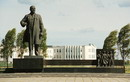 Mariupol. Lenin monument on square of same name, Donetsk Region, Lenin's Monuments
