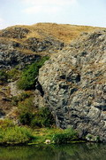 Rozdolne. Outcrop of Devonian rocks on right bank Kalmius, Donetsk Region, Geological sightseeing