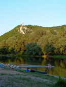 Sviatogirsk. Beach at foot of proletariat leader, Donetsk Region, Monuments