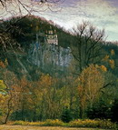 Sviatogirska lavra. Nicholas church in autumn, Donetsk Region, Monasteries
