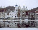 Sviatogirska lavra. Winter desolation, Donetsk Region, Monasteries