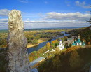 Sviatogirska lavra. Cretaceous outlier and lavra, Donetsk Region, Monasteries