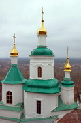 Sviatogirska lavra. Nicholas church and Sviatogirsk, Donetsk Region, Monasteries