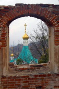 Sviatogirska lavra. Main dome of Assumption Cathedral, Donetsk Region, Monasteries