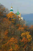 Sviatogirska lavra. Autumn on chalk rock, Donetsk Region, Monasteries
