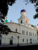 Sviatogirska lavra. Pokrovsky church and belfry, Donetsk Region, Monasteries