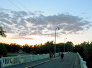 Sviatogirska lavra. Bridge over Siverskyi Donets river, Donetsk Region, Towns