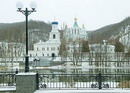 Sviatogirska lavra. Equipped the monastery banks, Donetsk Region, Monasteries