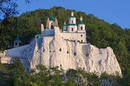 Sviatogirska lavra. Nicholas church on chalk rock, Donetsk Region, Monasteries