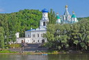 Sviatogirska lavra. Pokrovsky temple and Assumption Cathedral, Donetsk Region, Monasteries