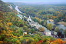 Sviatogirska lavra. Autumn decorations shrines, Donetsk Region, Monasteries