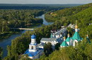 Sviatogirska lavra. Coastal part of lavra, Donetsk Region, Monasteries