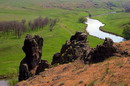 Starolaspa. Cliffs above Kalmius, Donetsk Region, Geological sightseeing