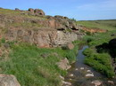 Telmanove. Granite convoy steppe stream, Donetsk Region, Geological sightseeing