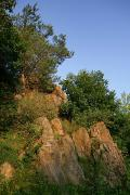 Vysokyi Kamin. Pegmatite rock, Zhytomyr Region, Geological sightseeing