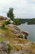 Zhytomyr. Rock Head Chatskyi over water surface, Zhytomyr Region, Geological sightseeing