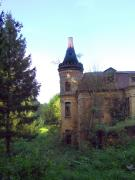 Turchynivka. Corner tower of palace Branicky, Zhytomyr Region, Country Estates