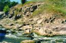 Chudniv. Rapids channel Teteriv, Zhytomyr Region, Geological sightseeing