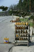Roadside trade in goods Polisia, Zhytomyr Region, Roads