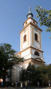 Beregove. Bell tower of church reformers, Zakarpattia Region, Churches