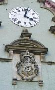 Karpaty. Clock and count's coat of arms, Zakarpattia Region, Fortesses & Castles
