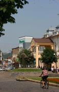 Mukacheve. In main square of Peace, Zakarpattia Region, Monuments