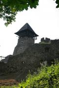 Nevytske. Tower of castle dungeon Nevytske, Zakarpattia Region, Fortesses & Castles