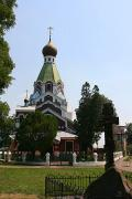 Uzhgorod. Orthodox temple on waterfront, Zakarpattia Region, Churches