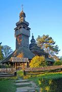 Uzhgorod. Nicholas Church from village of Shelestovo, Zakarpattia Region, Museums
