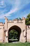 Vasylivka. Gates of East wing of estate, Zaporizhzhia Region, Country Estates