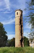 Vasylivka. Round tower – ruins of palace Popov, Zaporizhzhia Region, Country Estates