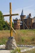 Vasylivka. Cross at church of Intercession, Zaporizhzhia Region, Country Estates