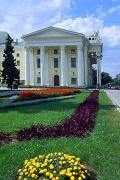 Zaporizhzhia. Side elevation of Ukrainian Drama, Zaporizhzhia Region, Cities