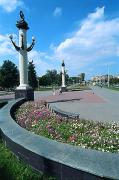 Zaporizhzhia. Entrance to park at prospect Lenin, Zaporizhzhia Region, Cities