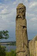 Zaporizhzhia. Carved pillar in honor of Sich, Zaporizhzhia Region, Museums