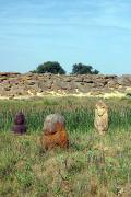 Terpinnia. Ancient statues and stone tomb, Zaporizhzhia Region, Museums