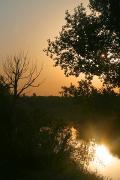 Terpinnia. Glimmer of dawn over river Molochna, Zaporizhzhia Region, Rivers