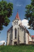 Kalush. Front facade of the church of St. Valentine, Ivano-Frankivsk Region, Churches