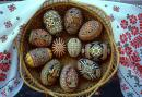 Kolomyia. Museum of Easter Eggs - basket with eggs, Ivano-Frankivsk Region, Museums